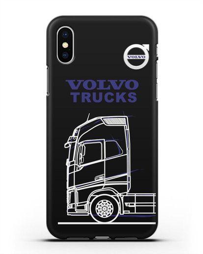 Чехол с изображением Volvo Trucks силикон черный для iPhone X