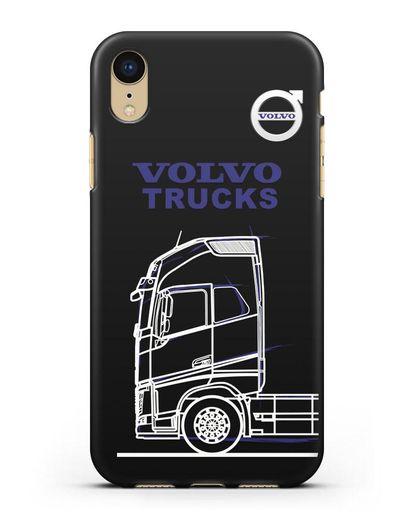Чехол с изображением Volvo Trucks силикон черный для iPhone XR