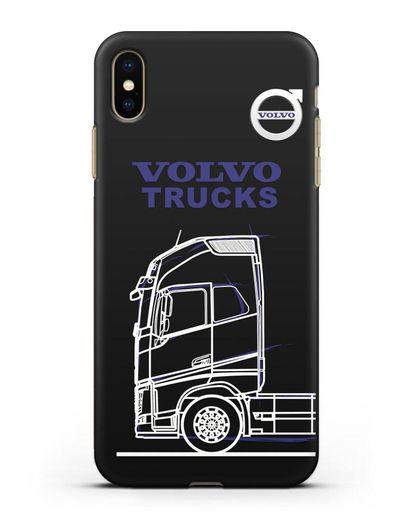 Чехол с изображением Volvo Trucks силикон черный для iPhone XS Max