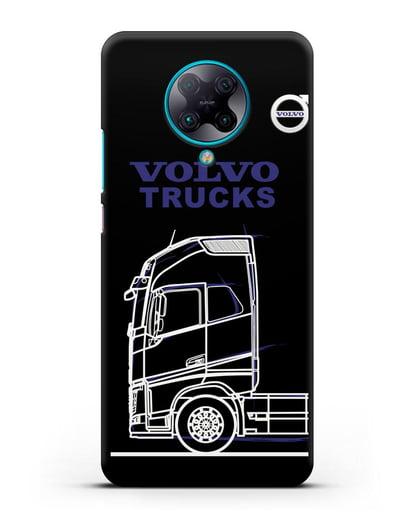 Чехол с изображением Volvo Trucks силикон черный для Xiaomi Poco F2 Pro