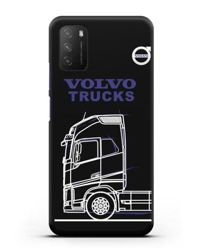 Чехол с изображением Volvo Trucks силикон черный для Xiaomi Poco M3