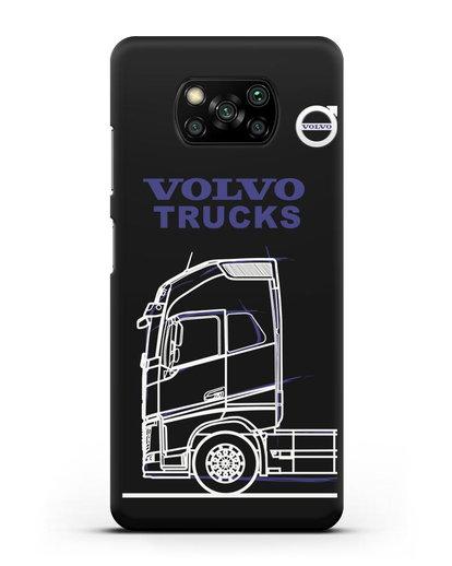 Чехол с изображением Volvo Trucks силикон черный для Xiaomi Poco X3