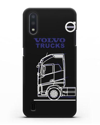 Чехол с изображением Volvo Trucks силикон черный для Samsung Galaxy A01 [SM-A015F]