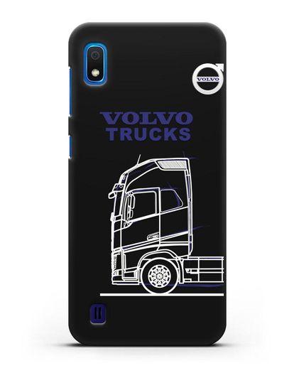 Чехол с изображением Volvo Trucks силикон черный для Samsung Galaxy A10 [SM-A105F]