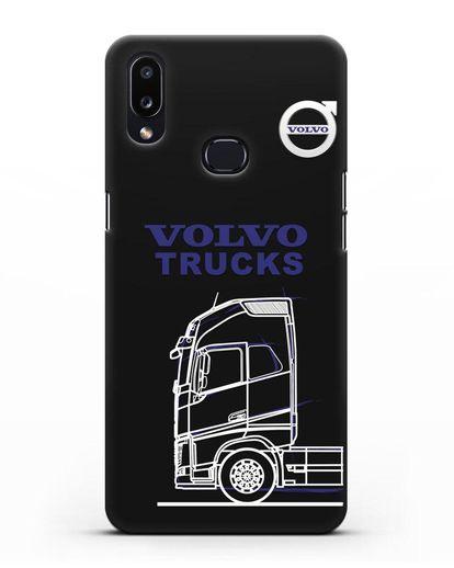 Чехол с изображением Volvo Trucks силикон черный для Samsung Galaxy A10s [SM-F107F]
