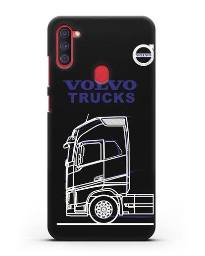 Чехол с изображением Volvo Trucks силикон черный для Samsung Galaxy A11 [SM-A115F]