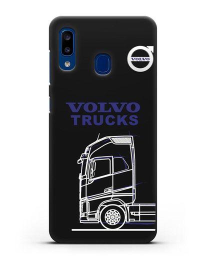 Чехол с изображением Volvo Trucks силикон черный для Samsung Galaxy A20 [SM-A205FN]