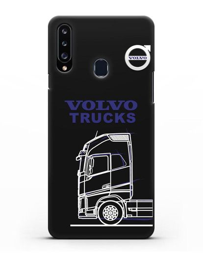 Чехол с изображением Volvo Trucks силикон черный для Samsung Galaxy A20s [SM-A207FN]