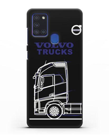 Чехол с изображением Volvo Trucks силикон черный для Samsung Galaxy A21s [SM-A217F]