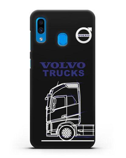 Чехол с изображением Volvo Trucks силикон черный для Samsung Galaxy A30 [SM-A305FN]