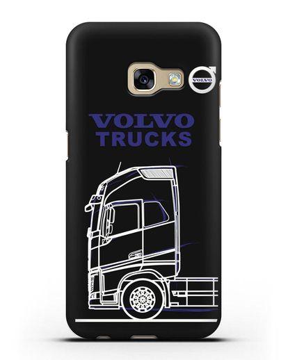 Чехол с изображением Volvo Trucks силикон черный для Samsung Galaxy A3 2017 [SM-A320F]