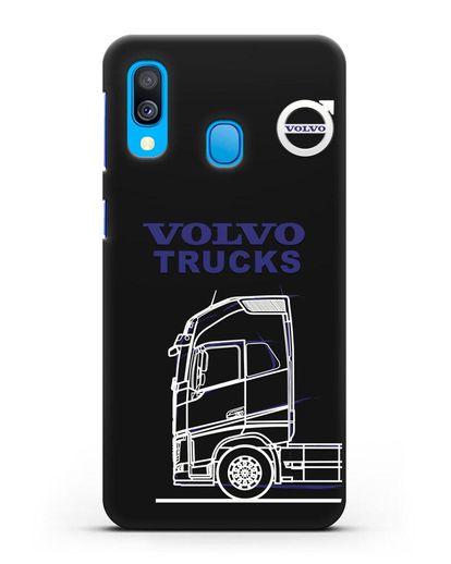 Чехол с изображением Volvo Trucks силикон черный для Samsung Galaxy A40 [SM-A405F]