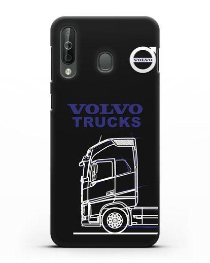 Чехол с изображением Volvo Trucks силикон черный для Samsung Galaxy A40s [SM-A507FN]