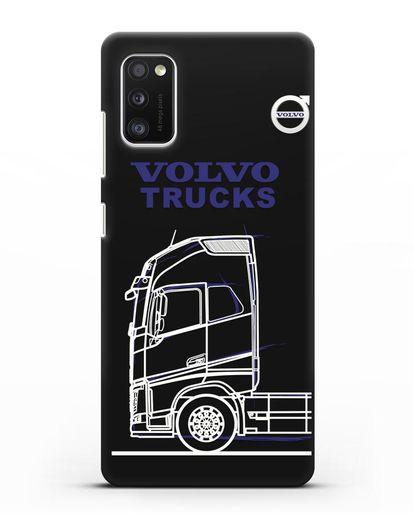 Чехол с изображением Volvo Trucks силикон черный для Samsung Galaxy A41 [SM-A415F]
