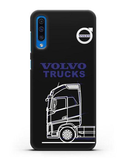 Чехол с изображением Volvo Trucks силикон черный для Samsung Galaxy A50 [SM-A505F]