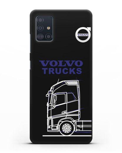 Чехол с изображением Volvo Trucks силикон черный для Samsung Galaxy A51 [SM-A515F]