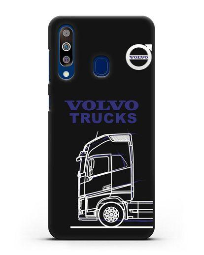 Чехол с изображением Volvo Trucks силикон черный для Samsung Galaxy A60 [SM-A606F]