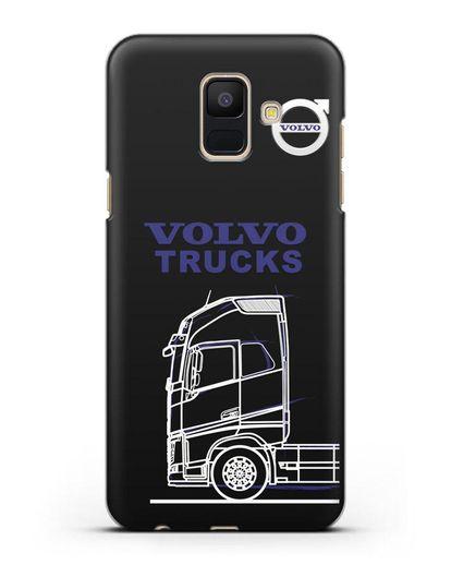 Чехол с изображением Volvo Trucks силикон черный для Samsung Galaxy A6 2018 [SM-A600F]