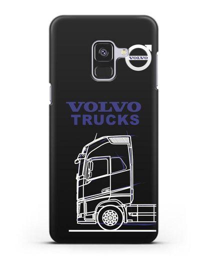 Чехол с изображением Volvo Trucks силикон черный для Samsung Galaxy A8 Plus [SM-A730F]