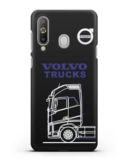 Чехол с изображением Volvo Trucks силикон черный для Samsung Galaxy A8s [SM-G8870]