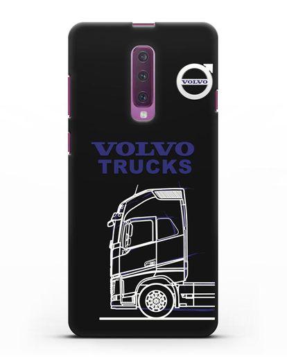 Чехол с изображением Volvo Trucks силикон черный для Samsung Galaxy A90 [SM-A908N]