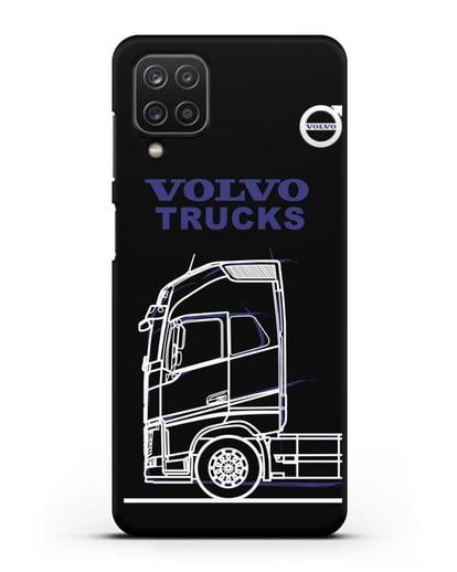 Чехол с изображением Volvo Trucks силикон черный для Samsung Galaxy A12 [SM-A125F]