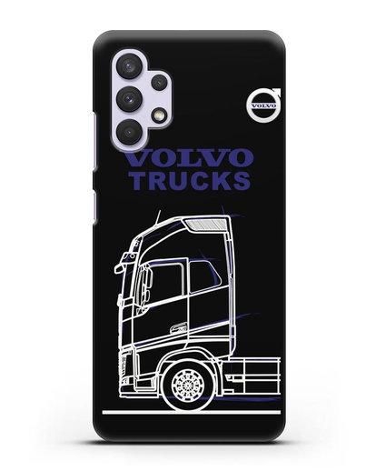 Чехол с изображением Volvo Trucks силикон черный для Samsung Galaxy A32 5G [SM-A326B]