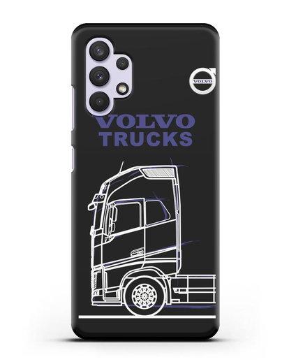 Чехол с изображением Volvo Trucks силикон черный для Samsung Galaxy A32 4G [SM-A325F]