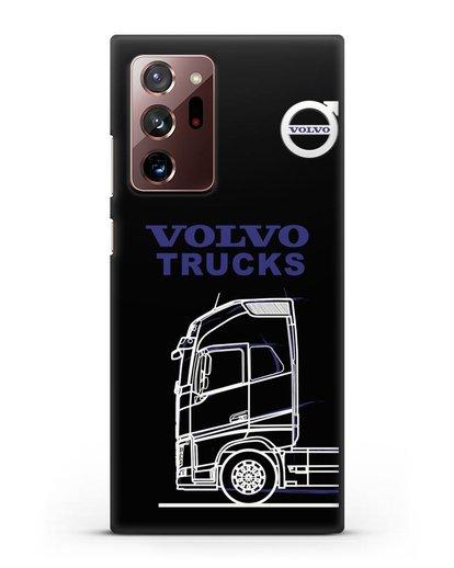 Чехол с изображением Volvo Trucks силикон черный для Samsung Galaxy Note 20 Ultra [SM-N985F]
