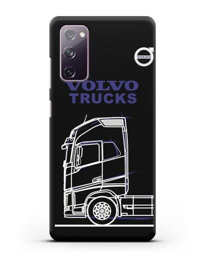 Чехол с изображением Volvo Trucks силикон черный для Samsung Galaxy S20 FE [SM-G780F]