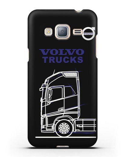 Чехол с изображением Volvo Trucks силикон черный для Samsung Galaxy J3 2016 [SM-J320F]