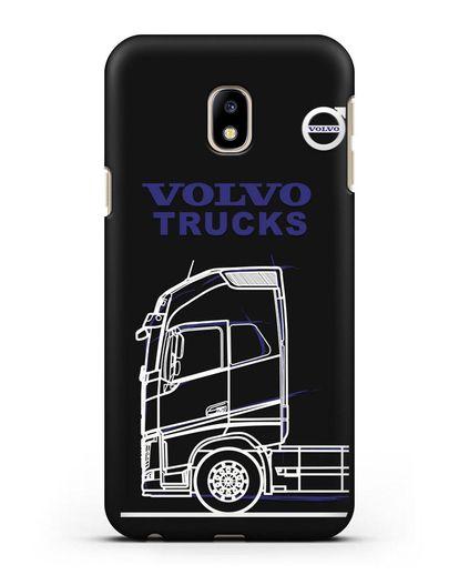 Чехол с изображением Volvo Trucks силикон черный для Samsung Galaxy J3 2017 [SM-J330F]