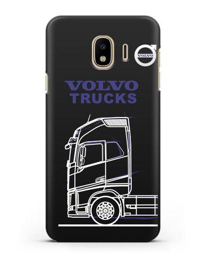 Чехол с изображением Volvo Trucks силикон черный для Samsung Galaxy J4 2018 [SM-J400F]