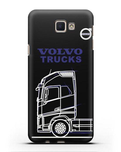 Чехол с изображением Volvo Trucks силикон черный для Samsung Galaxy J5 Prime [SM-G570]