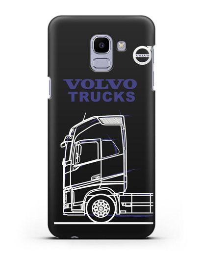 Чехол с изображением Volvo Trucks силикон черный для Samsung Galaxy J6 2018 [SM-J600F]