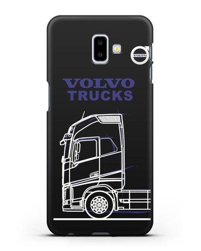 Чехол с изображением Volvo Trucks силикон черный для Samsung Galaxy J6 Plus [SM-J610F]