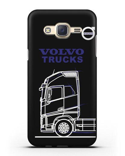 Чехол с изображением Volvo Trucks силикон черный для Samsung Galaxy J7 2015 [SM-J700H]