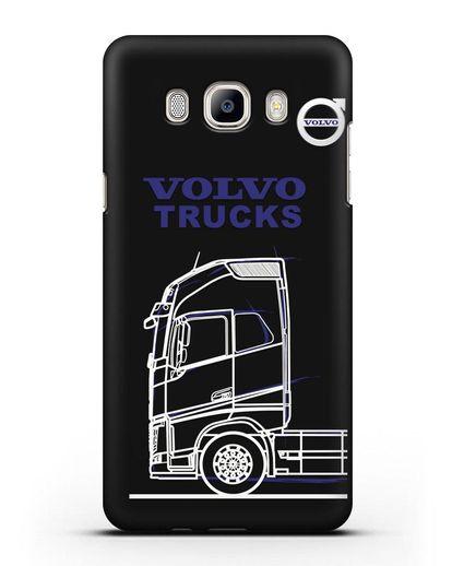 Чехол с изображением Volvo Trucks силикон черный для Samsung Galaxy J7 2016 [SM-J710F]