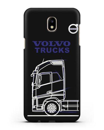 Чехол с изображением Volvo Trucks силикон черный для Samsung Galaxy J7 2017 [SM-J720F]