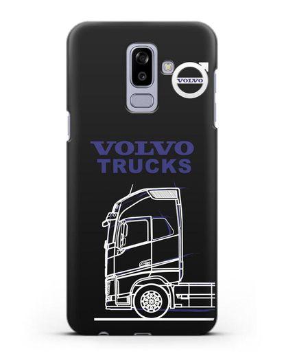 Чехол с изображением Volvo Trucks силикон черный для Samsung Galaxy J8 2018 [SM-J810F]
