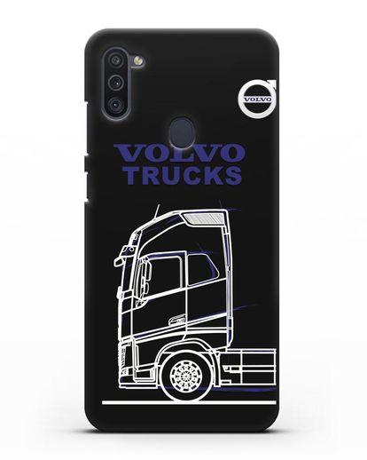 Чехол с изображением Volvo Trucks силикон черный для Samsung Galaxy M11 [SM-M115F]