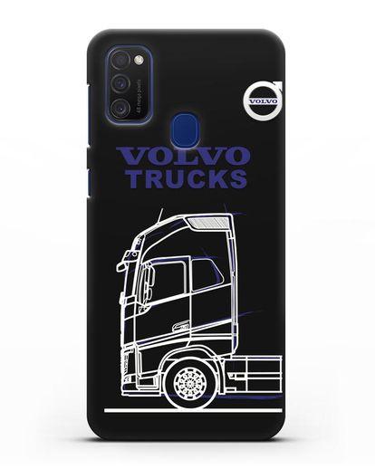 Чехол с изображением Volvo Trucks силикон черный для Samsung Galaxy M21 [SM-M215F]