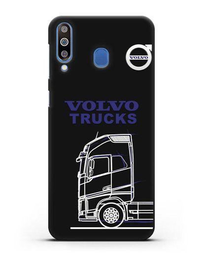 Чехол с изображением Volvo Trucks силикон черный для Samsung Galaxy M30 [SM-M305F]