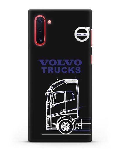 Чехол с изображением Volvo Trucks силикон черный для Samsung Galaxy Note 10 [N970F]
