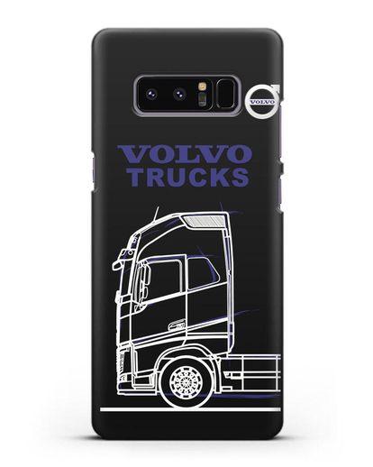 Чехол с изображением Volvo Trucks силикон черный для Samsung Galaxy Note 8 [N950F]