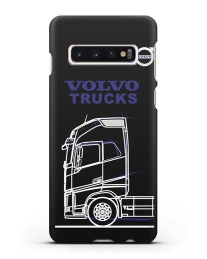 Чехол с изображением Volvo Trucks силикон черный для Samsung Galaxy S10 Plus [SM-G975F]