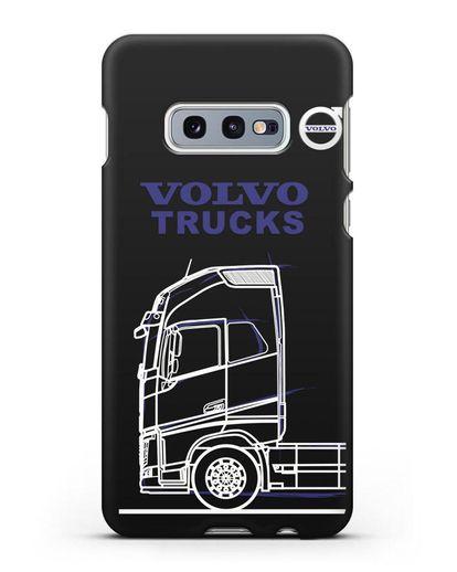 Чехол с изображением Volvo Trucks силикон черный для Samsung Galaxy S10e [SM-G970F]