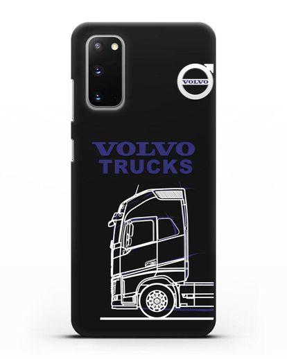 Чехол с изображением Volvo Trucks силикон черный для Samsung Galaxy S20 [SM-G980F]