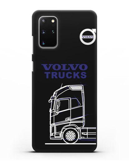 Чехол с изображением Volvo Trucks силикон черный для Samsung Galaxy S20 Plus [SM-G985F]