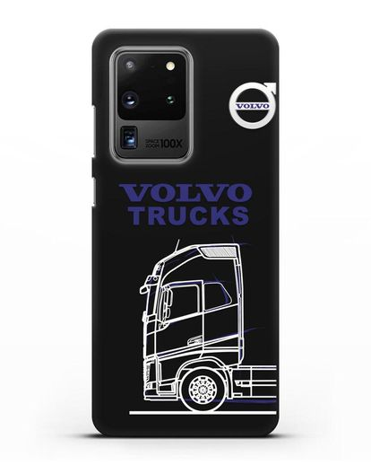 Чехол с изображением Volvo Trucks силикон черный для Samsung Galaxy S20 Ultra [SM-G988B]